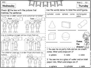 First Grade Math Homework - 3rd  Quarter