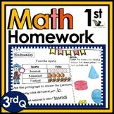 First Grade Math Homework with Digital Option for Distance