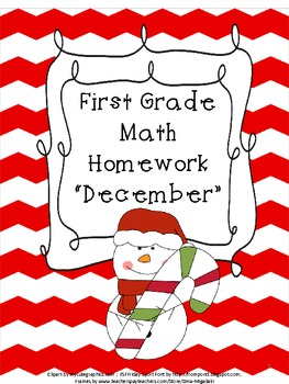 First Grade Math Homework- December