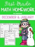 First Grade Math Homework December/ January