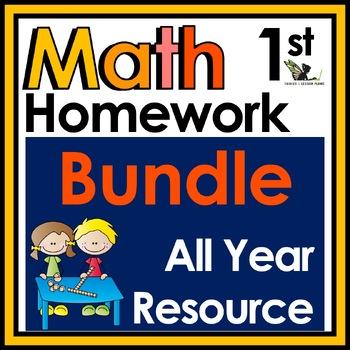 First Grade Math Homework - Entire Year!