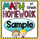 First Grade Math Homework - Free Sample