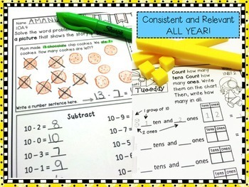 First Grade Math Homework - Free Sample