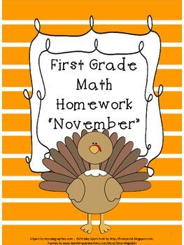 First Grade Math Homework- November