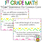 First Grade Math I Can Statements Chevron
