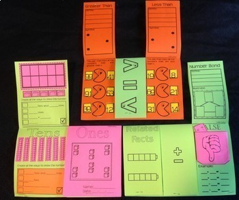 First Grade Math Interactive Foldables Bundle