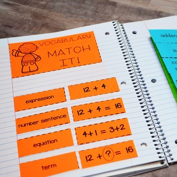 First Grade Math Interactive Notebook: Addition and Subtraction within 20 (TEKS)