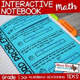 First Grade Math Interactive Notebook: Algebraic Reasoning (TEKS)