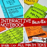 First Grade Math Interactive Notebook Bundle- All TEKS Standards