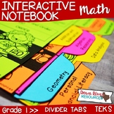 First Grade Math Interactive Notebook: Divider Tabs for Or