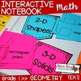 First Grade Math Interactive Notebook: Geometry- 2-D Shape