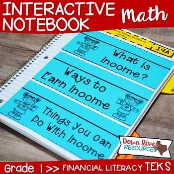 First Grade Math Interactive Notebook: Personal Financial Literacy (TEKS)