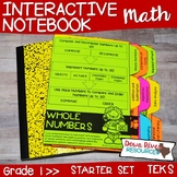 First Grade Math Interactive Notebook: Starter Set + Divid