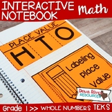 First Grade Math Interactive Notebook: Whole Numbers - Pla