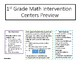 First Grade Math Intervention Centers