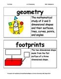 First Grade Math Investigations Unit Nine Vocabulary