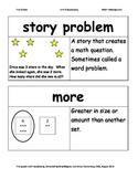 First Grade Math Investigations Unit Six Vocabulary