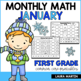 January Math Worksheets | First Grade