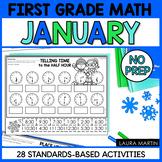 January Math Worksheets - First Grade