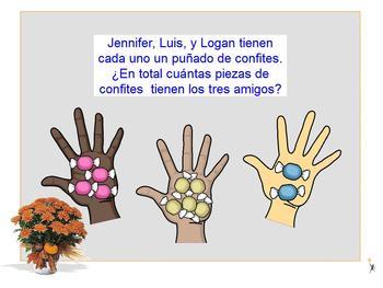First Grade Math Jeopardy Game in Spanish ~ CCSS ~ PROMETHEAN FLIPCHART ~ FUN