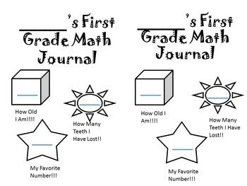 First Grade Math Journal