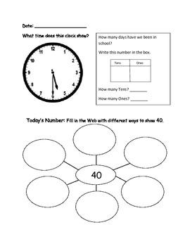 First Grade Math Journal: 3rd 9 Weeks (updated)