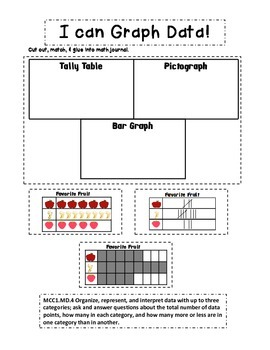 First Grade Math Journal Prompts: 38 Prompts for the Common Core MD.4 Standard!