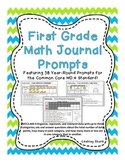 First Grade Math Journal Prompts: 38 Prompts for the Commo
