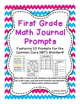 First Grade Math Journal Prompts: 25 Prompts for the Commo