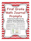 First Grade Math Journal Prompts: 33 Prompts for Operations & Algebraic Thinking