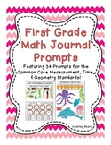 First Grade Math Journal Prompts: 34 Prompts for Measurement, Time, & Geometry
