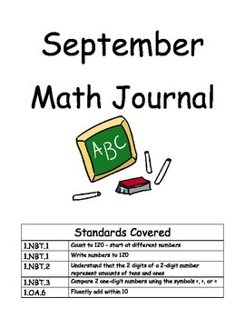 First Grade Math Journal - SEPTEMBER (MONTH 1) Common Core
