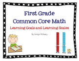 First Grade Math Learning Goals and Learning Scales