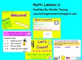 First Grade Math - Lesson 1.1 Support File