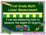 First Grade Math Linear Measurement Using Non-Standard Units