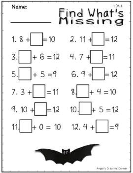 First Grade Math & Literacy Worksheets with Fun Bat Facts ...