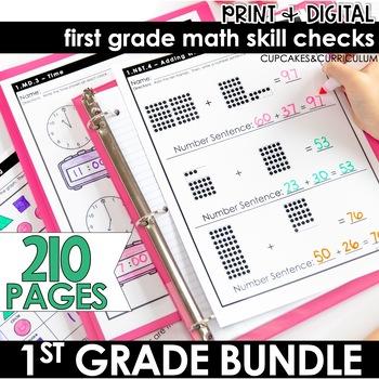First Grade Math Skill Checks Full Year