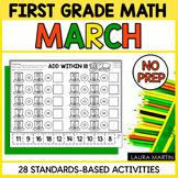 First Grade Math - March