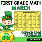 March Math Worksheets - First Grade
