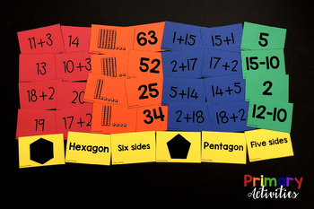 First Grade Math Matching Games