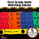 First Grade Math Matching Games