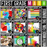 First Grade Math: Math Made Fun! A GROWING Bundle!