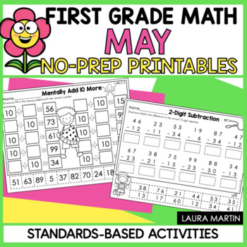 May Math Worksheets - First Grade