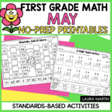 May Math Worksheets | First Grade | Distance Learning | Go