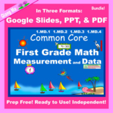 First Grade Math Measurement and Data Bundle Google Slides
