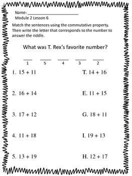 First Grade Math Module 2 Alternative Worksheets