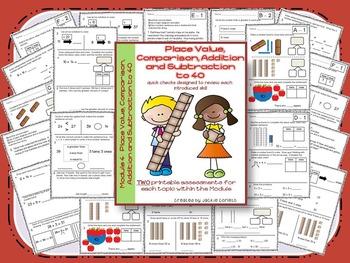 First Grade Math Modules 4-6 Quick Checks *BUNDLE*