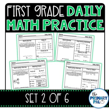 First Grade Daily Math Practice: Set 2
