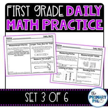 First Grade Daily Math Practice: Set 3