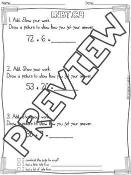 Math Assessments - First Grade Base Ten